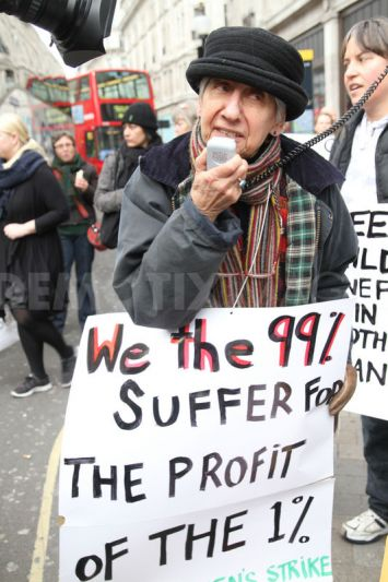 Selma at the recent disabled peoples protest